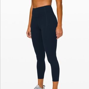 "Lululemon To The Beat Tight 24"" True Navy Size 4"